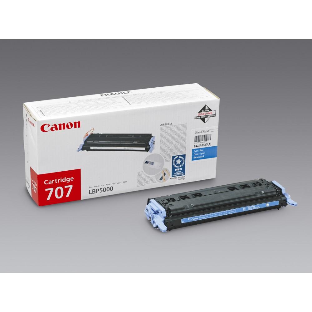 Заправка картриджа Canon 707C (синий) для принтеров Canon LBP5000 / LBP5100