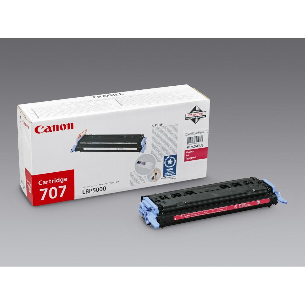 Заправка картриджа Canon 707M (красный) для принтера Canon LBP5000 / LBP5100