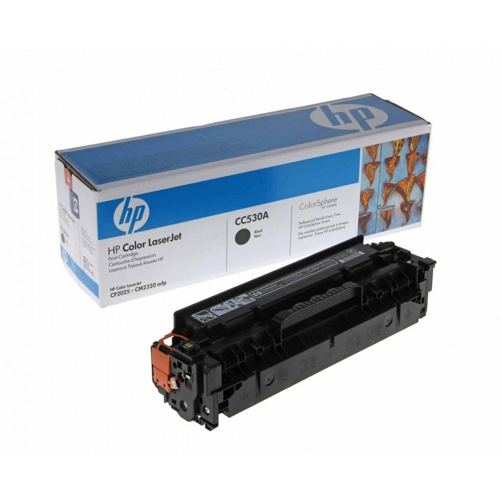 Заправка картриджа HP CC530A (черный) для принтеров HP CLJ CP2025 / CM2320