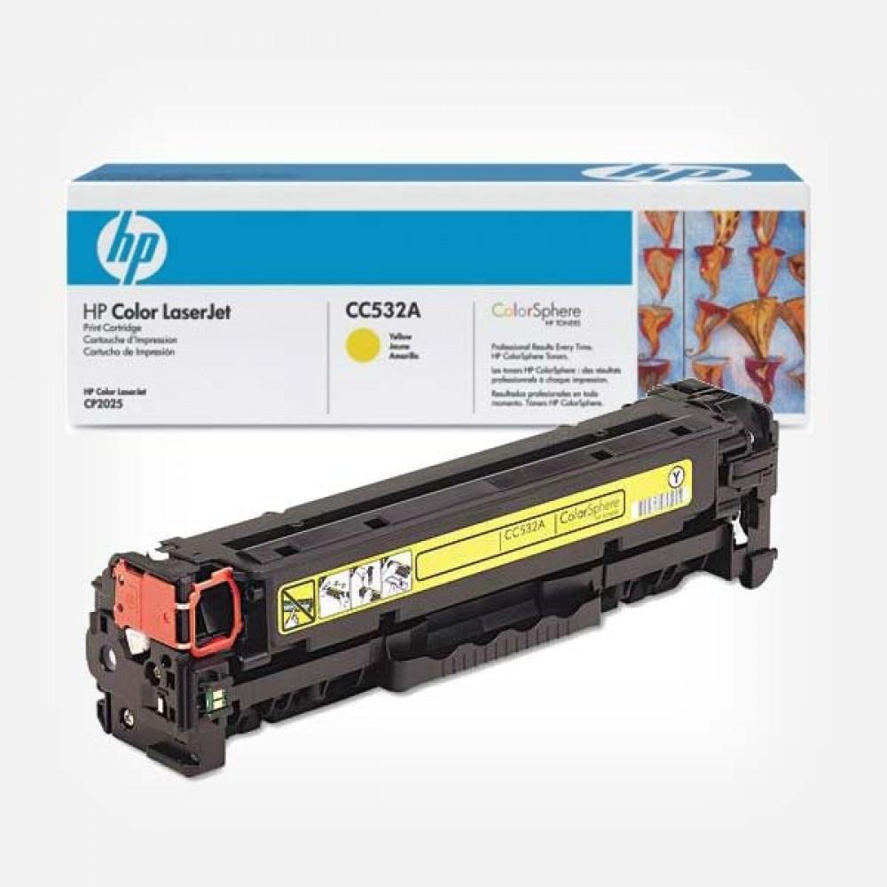 Заправка картриджа HP CC532A (желтый) для принтеров HP CLJ CP2025 / CM2320