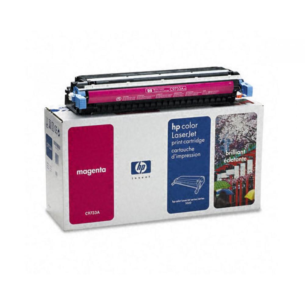 Заправка картриджа HP CLJ C9733A (пурпурный) для принтера HP CLJ 5500 / 5550
