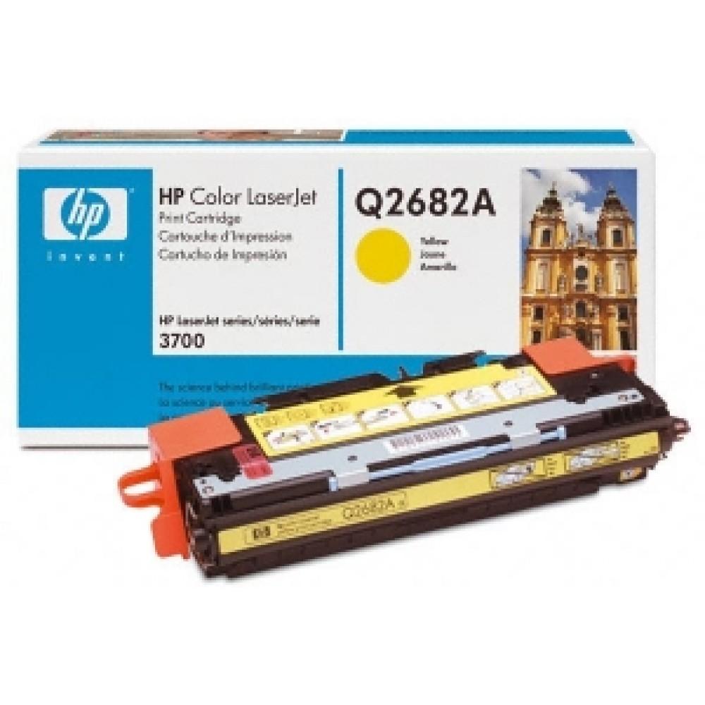 Заправка картриджа HP CLJ Q2682A (желтый) для принтера HP CLJ 3700