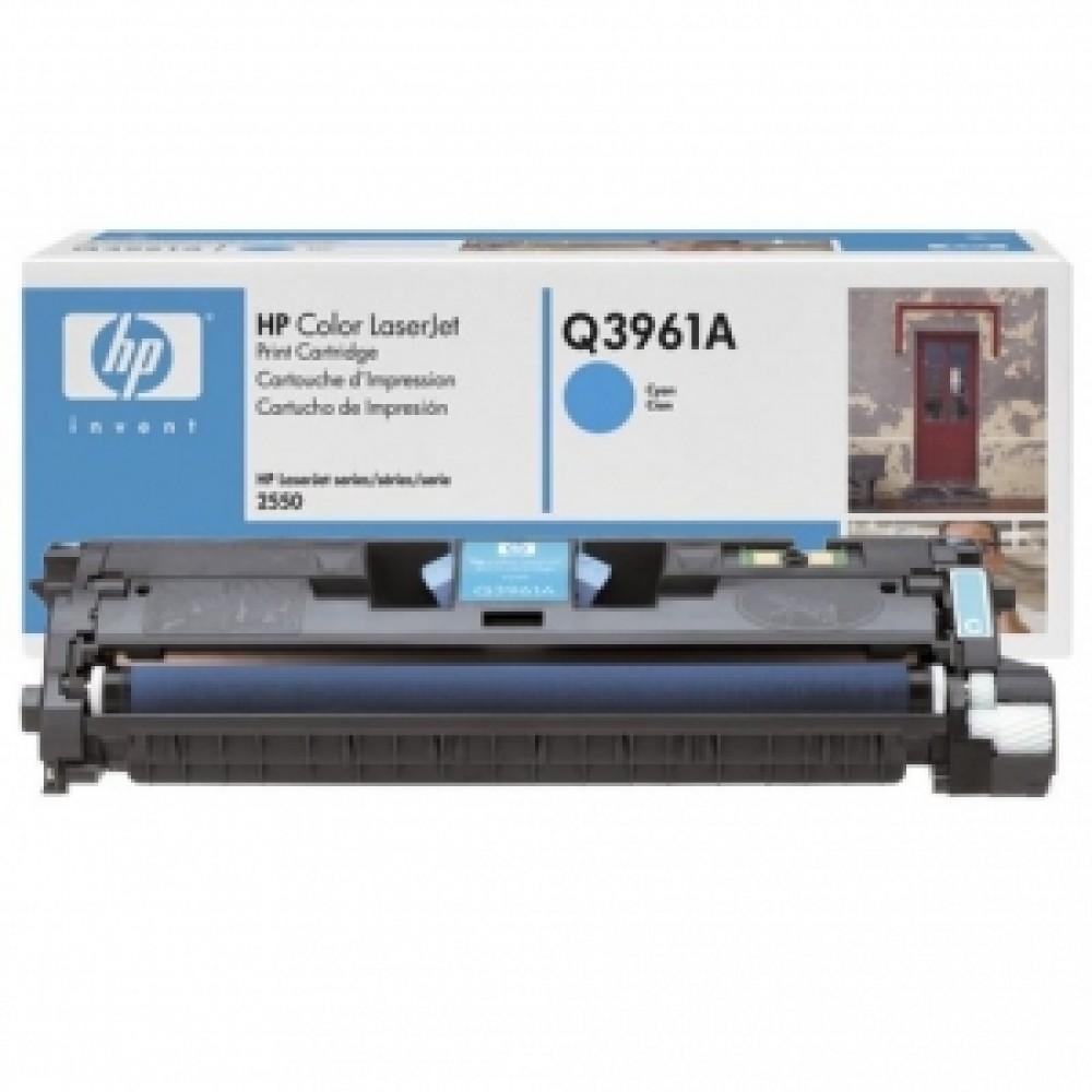 Заправка картриджа HP CLJ Q3961A (голубой) для принтера HP CLJ 2550L, HP CLJ 2820, HP CLJ 2840 qio