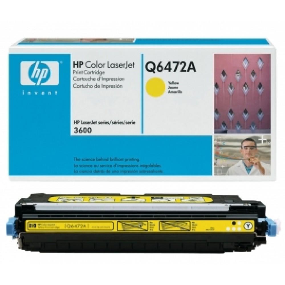 Заправка картриджа HP CLJ Q6472A (желтый) для принтера HP CLJ 3600, HP CLJ CP3505