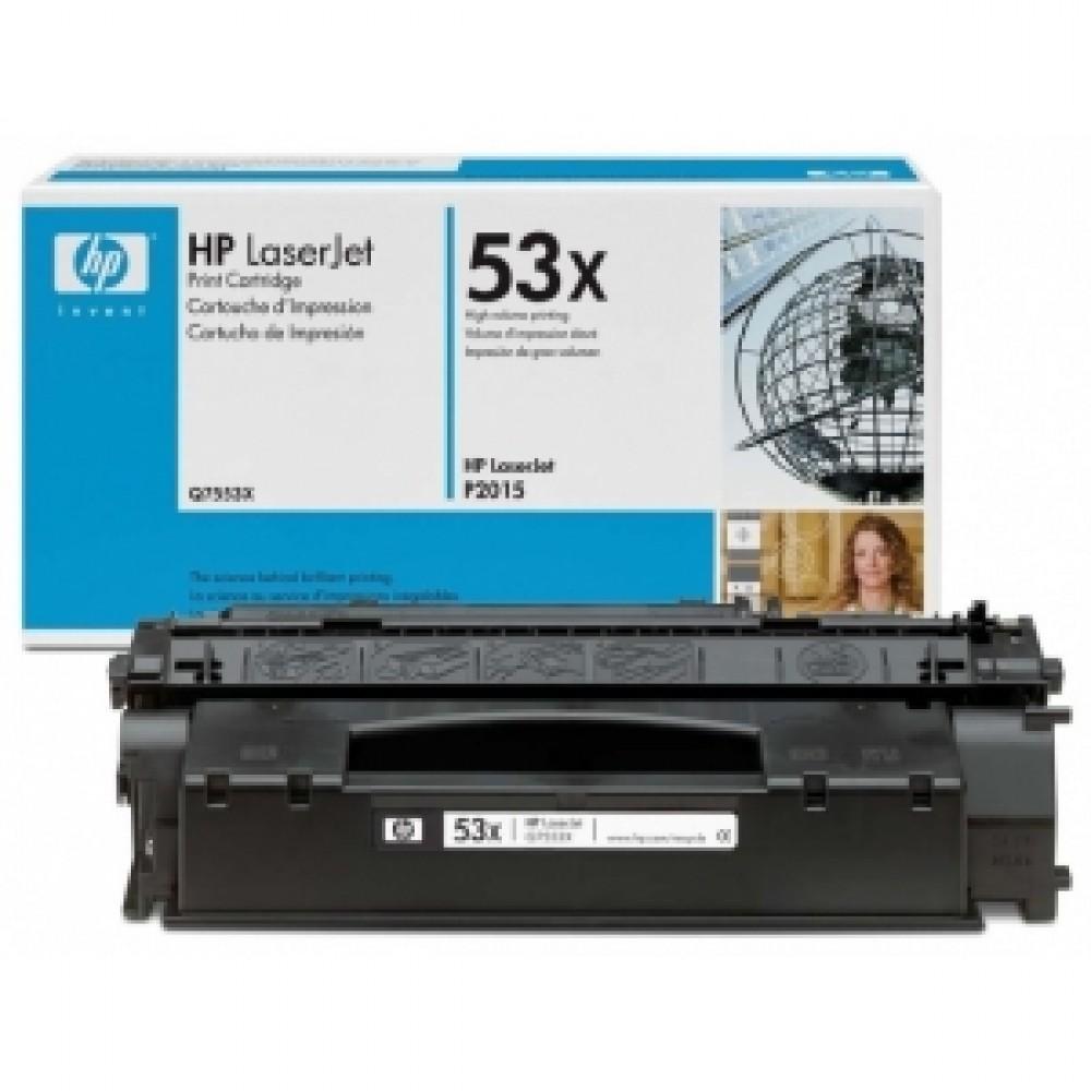 Заправка картриджа HP Q7553Х (HP 53X) для принтеров HP LaserJet M2727 / P2014 / P2015