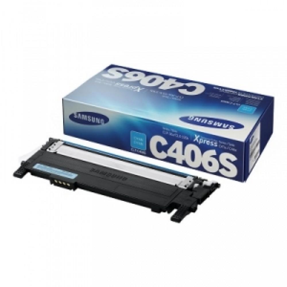 Заправка картриджа Samsung CLT C406S (голубой) для принтера Samsung CLP 360 / 365, CLX 3300 / 3305