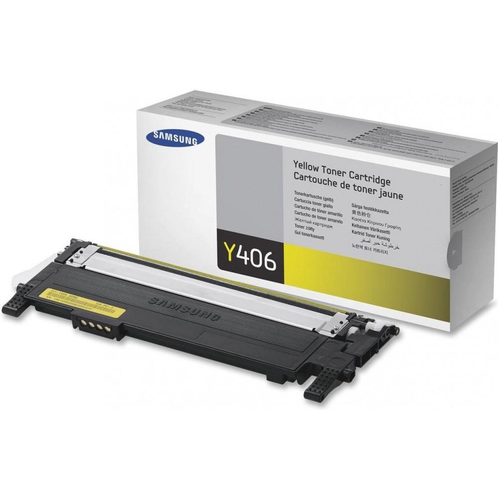 Заправка картриджа Samsung CLT Y406S (желтый) для принтера Samsung CLP 360 / 365, CLX 3300 / 3305