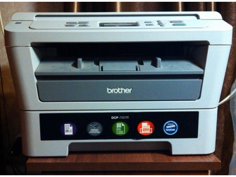 Ошибка нет бумаги на принтере Brother 7057